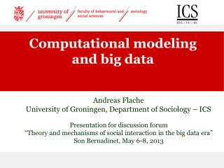 Computational modeling and big data