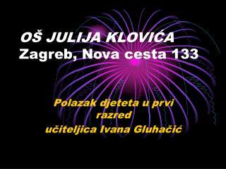 OŠ  JULIJA KLOVIĆA Zagreb, Nova cesta 133