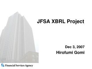 JFSA XBRL Project
