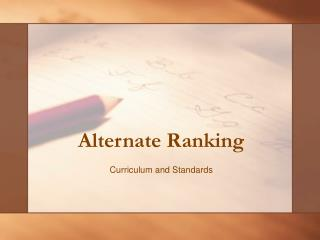 Alternate Ranking
