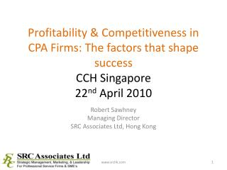 Robert Sawhney Managing Director SRC Associates Ltd, Hong Kong