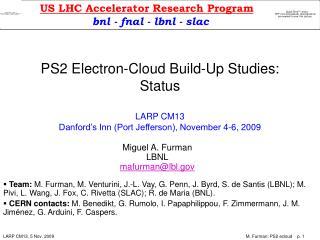 Miguel A. Furman LBNL mafurman@lbl