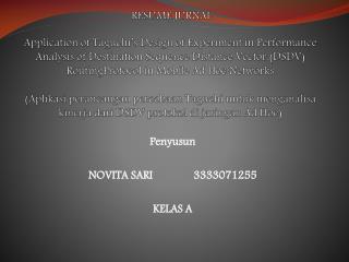 Penyusun NOVITA SARI3333071255 KELAS A