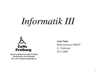 Informatik III