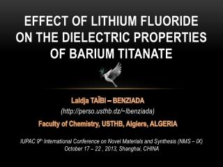 Effect  OF LITHIUM FLUORIDE ON THE DIELECTRIC PROPERTIES OF BARIUM TITANATE