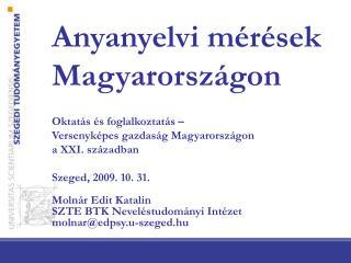 Anyanyelvi mérések Magyarországon