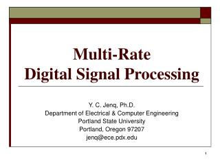 Multi-Rate Digital Signal Processing