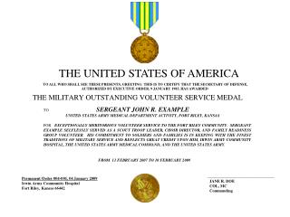 Permanent Order 004-001, 04 January 2009 Irwin Army Community Hospital  Fort Riley, Kansas 66442