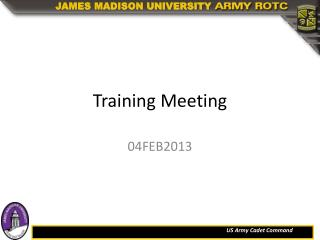 Training Meeting
