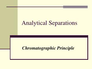Analytical Separations