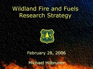Wildland Fire and Fuels Research Strategy