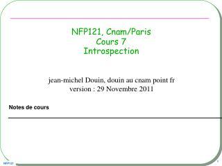 NFP121, Cnam/Paris Cours 7 Introspection