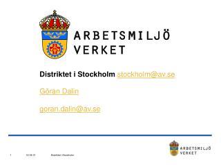 Distriktet i Stockholm