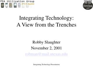 Integrating Technology: A View from the Trenches