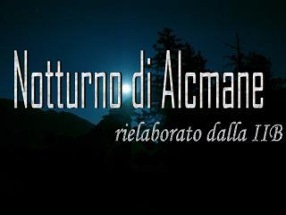 Notturno di Alcmane