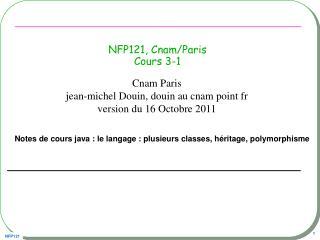 NFP121, Cnam/Paris Cours 3-1