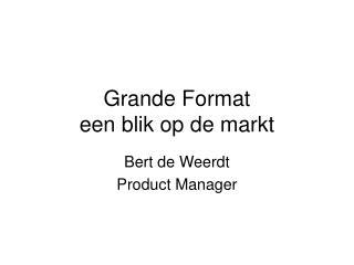 Grande Format een blik op de markt