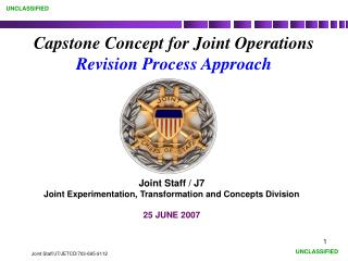 Capstone Concept for Joint Operations Revision Process Approach