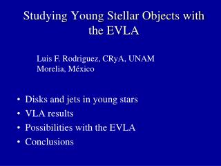 Studying Young Stellar Objects with the EVLA