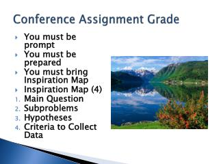 Conference Assignment Grade