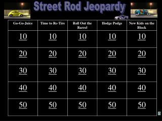 Street Rod Jeopardy