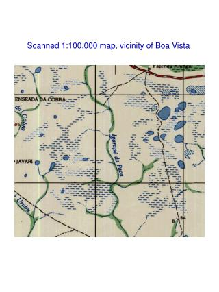 Scanned 1:100,000 map, vicinity of Boa Vista