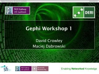 Gephi  Workshop 1