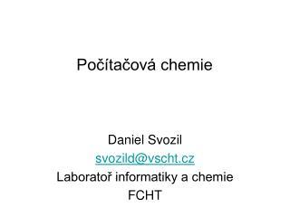 Po?�ta?ov� chemie