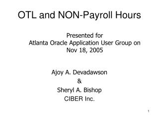 OTL and NON-Payroll Hours