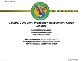 USCENTCOM Joint Frequency Management Office  (JFMO)