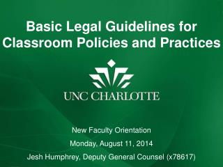 Basic Legal Guidelines for Classroom Policies and Practices