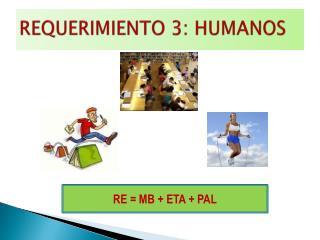 REQUERIMIENTO 3: HUMANOS