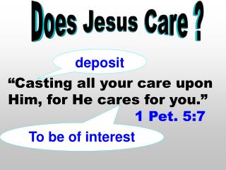 Does Jesus Care ?