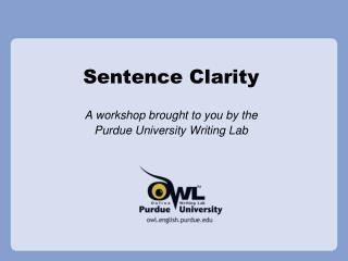 Sentence Clarity