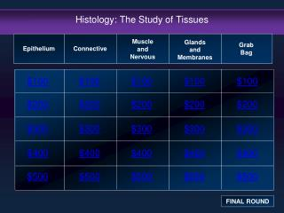 Histology: The Study of Tissues
