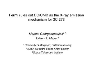 Fermi rules out EC/CMB as the X-ray emission mechanism for 3C 273