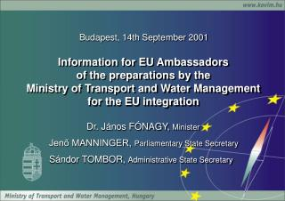 Budapest, 14th September 2001