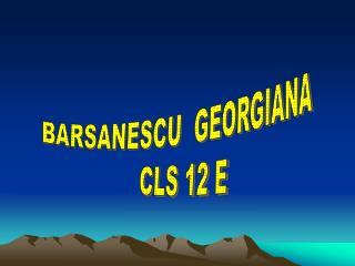 BARSANESCU  GEORGIANA   CLS 12 E