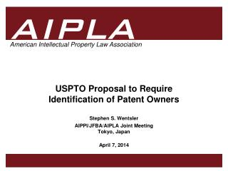 USPTO Proposal to Require  Identification of Patent Owners