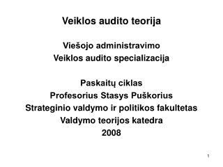 Veiklos audito teorija