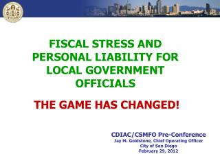 FISCAL STRESS AND PERSONAL LIABILITY FOR LOCAL GOVERNMENT OFFICIALS