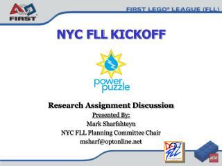 NYC FLL KICKOFF