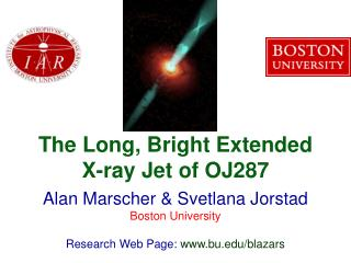 The Long, Bright Extended X-ray Jet of OJ287