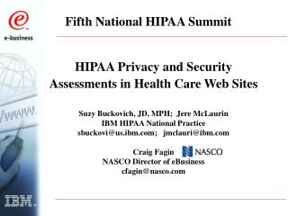 Fifth National HIPAA Summit