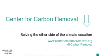 Carbon Sequestration Incentive