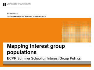 Mapping interest group populations