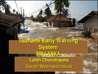 Tsunami Early Warning System SRI LANKA