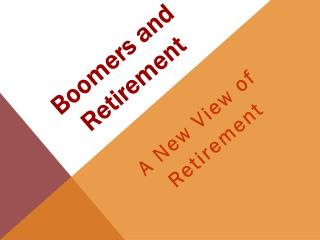 Boomers and Retirement