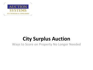 Auction Systems: City Surplus Auction - Ways to score on Pro