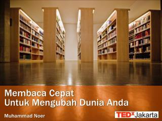 Membaca Cepat Untuk Mengubah Dunia Anda